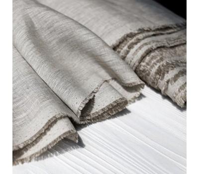 Ткань конопляная натурального цвета для постельного белья