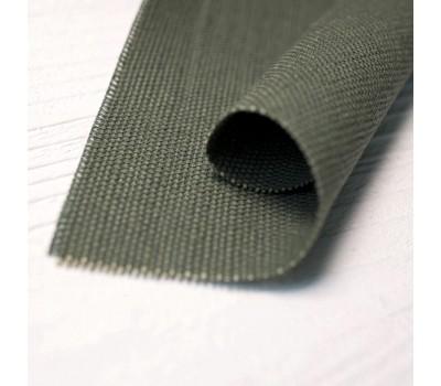 Ткань конопляная зеленого цвета