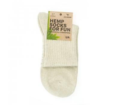 Hemp Socks носки из конопли белые высокие / унисекс